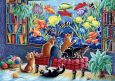 LOVELYCARDS Katzen vor Aquarium - Irina Garmashova Postkarte