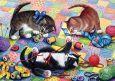 LOVELYCARDS Drei Kätzchen mit Wolle - Irina Garmashova Postkarte