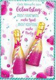 HARTUNG EDITION Wünsche zum Geburtstag: Feuerwerk, Spaß, Konfetti IN TOUCH Postkarte