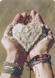 HARTUNG EDITION sand heart on hands MEDLEY postcard