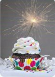 HARTUNG EDITION cupcake with sparkler MEDLEY postcard