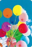 HARTUNG EDITION colourful balloon bouquet MEDLEY postcard