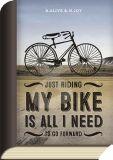 TAURUS-KUNSTKARTEN Just riding my bike is all I need to go forward - BookCard postcard