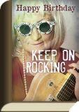 TAURUS-KUNSTKARTEN Happy Birthday - Keep on rocking - BookCard Postkarte
