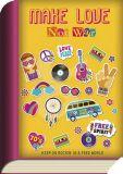 TAURUS-KUNSTKARTEN Make love not war / Keep on rocking in a free world - BookCard postcard