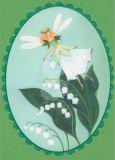 TAURUS-KUNSTKARTEN fairy lilies of the valley - Kristiana Heinemann postcard