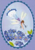 TAURUS-KUNSTKARTEN fairy with forget-me-not - Kristiana Heinemann postcard