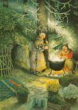 TAURUS-KUNSTKARTEN women are cooking outside - Inge Löök postcard