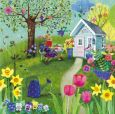 GOLLONG woman in garden - Mila Marquis postcard