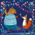 GOLLONG bear and fox party - Mila Marquis postcard