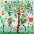 GOLLONG Fahrrad mit Frühlingsblüten - Mila Marquis Postkarte