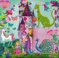 GOLLONG castle with children, dragon + unicorn - Mila Marquis postcard