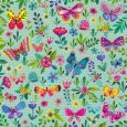 GOLLONG butterflies with flowers - Mila Marquis postcard
