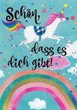GOLLONG Schön, dass es Dich gibt / unicorn - Mila Marquis postcard
