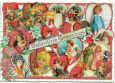 TAUSENDSCHÖN  Valentine Greetings / angels in hearts postcard