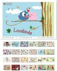 TUSHITA Lovebirds postcard book