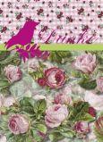 PAPER HOUSE COMPANY Danke - roses + birds postcard