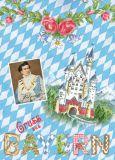 PAPER HOUSE COMPANY Gruss aus Bayern - Neuschwanstein postcard