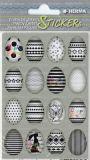 Herma Ostereier schwarz/weiß Ostern Sticker