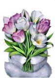 DANACARDS Cat Flowers - Anna Fernandez Postkarte