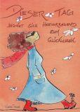 DISCORDIA Dieser Tag eignet sich zum Glücklichsein - Atelier Zebrafisch Postkarte
