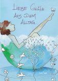 DISCORDIA Liebe Grüße aus dem Alltag - Atelier Zebrafisch Postkarte