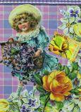 DISCORDIA girl with flower basket - Artichique Design postcard