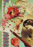 DISCORDIA charming twenties / love letters - Artichique Design postcard
