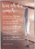 GWBI Was ich Dir wünsche / Feder - Classic Line Postkarte
