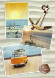 HARTUNG EDITION three beach photos with anchor postcard