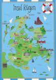 HARTUNG EDITION Insel Rügen - map postcard