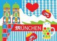 CITYPRODUCTS München mit Herz Postkarte