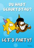 RALPH RUTHE Du hast Geburtstag? Lets party! A6+ Postkarte