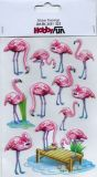 HobbyFun Flamingos 3D CREApop Sticker