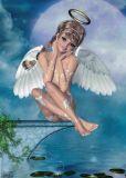 CONNY DAMBACH Engel am See Postkarte