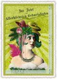 TAUSENDSCHÖN Zur Feier des Allerhöchsten Geburtstagsfestes / Frau Postkarte