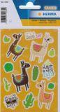 Herma Nice Day / Lamas Glitterfolien Sticker