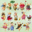 GOLLONG Schweinchen - Nina Chen Postkarte