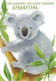 GOLLONG Schönen Geburtstag / Koala - Carola Pabst Postkarte