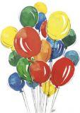 FLORIS Luftballons Jan Postkarte