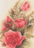 FLORIS Rote Rosen Muriel Postkarte