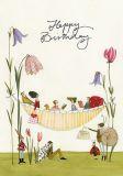 GRÄTZ Happy Birthday / Hängematte - Silke Leffler Postkarte