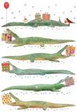 QUIRE Krokodile Postkarte