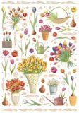 QUIRE Bunte Blumen Postkarte