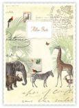 QUIRE Alles Gute / Safari Postkarte
