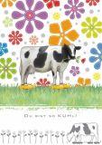 QUIRE Du bist so KUHL! / Kühe + Blüten Postkarte