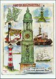 OLE WEST Hamburg maritim Postkarte