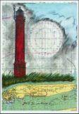 OLE WEST Leuchtturm Norderney Postkarte