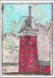OLE WEST Helgoland Leuchtturm Postkarte