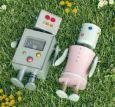 AQUAPURELLA Roboterpaar auf Wiese - Amalgame Postkarte